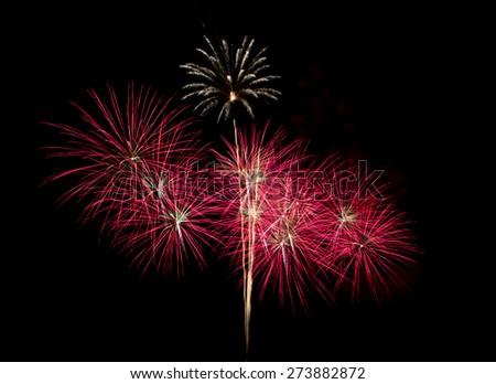 Beautiful firework show for celebration. - stock photo