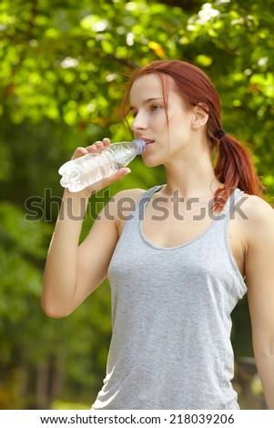 beautiful fit woman - stock photo