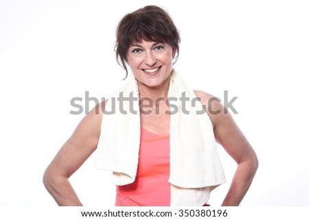 Beautiful fitness woman - stock photo