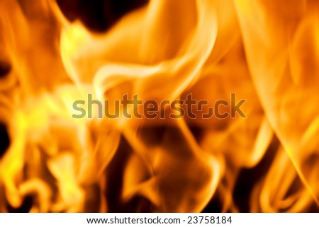 Beautiful flames in fireplace, background