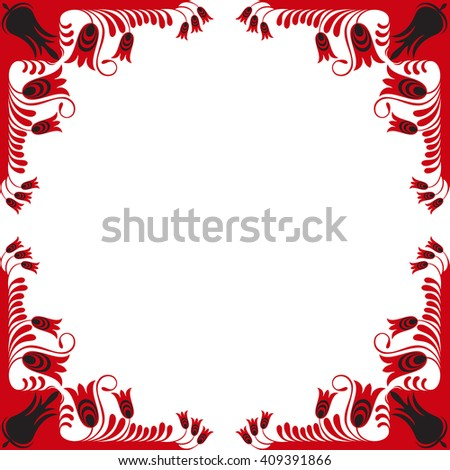 Beautiful floral card on white background