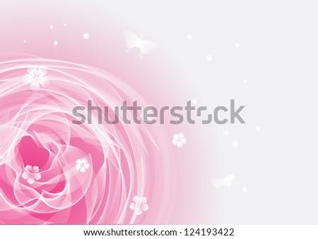 Beautiful flower. Background art. - stock photo