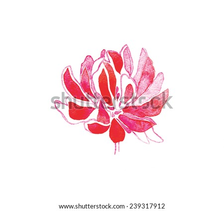 beautiful  flower clover. hand made drawing. suitable for various designs and scrapbooking