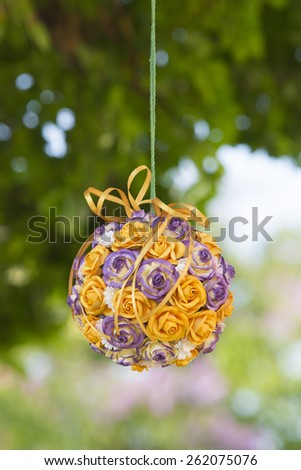 Beautiful flower wedding decoration - stock photo