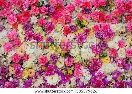 beautiful pink flowers beautiful flowers background wedding scene stock photo 227180965