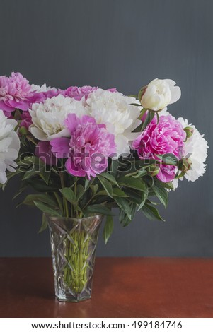 Beautiful flowers peonies
