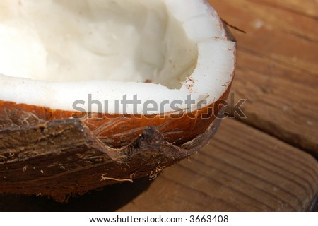 Beautiful fresh coconut healthy fruit - stock photo