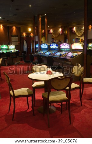 Beautiful game hall in a rich casino - stock photo