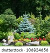 Beautiful garden - stock photo