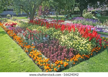 beautiful gardens - stock photo