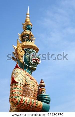 Beautiful giant buddhist art style in thailand - stock photo