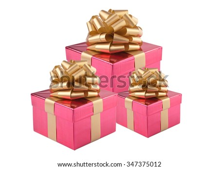 Beautiful gift box isolated on white background