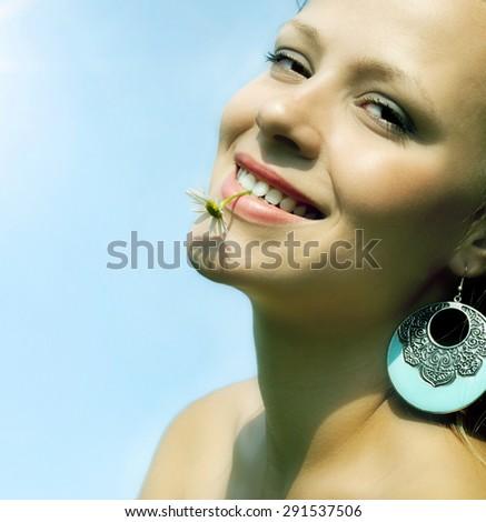 Beautiful girl. - stock photo