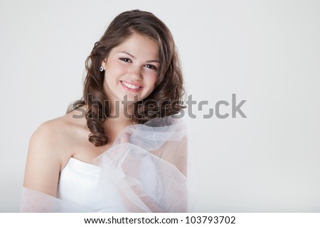 Beautiful Girl Bride - stock photo