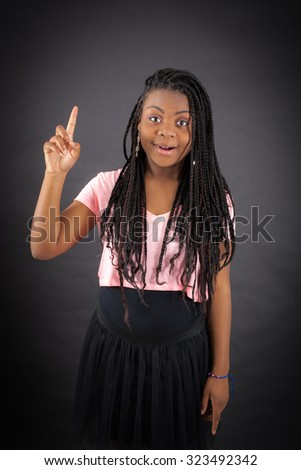 Beautiful girl doing different expressions in different sets of clothes: idea - stock photo