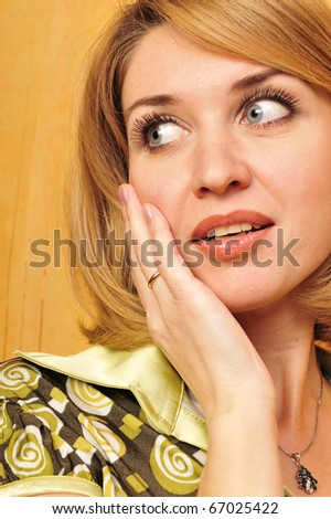 Beautiful Girl face.Perfect skin care concept - stock photo