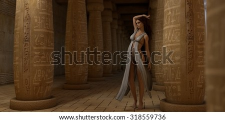 beautiful girl in fantasy outfit isolated on black - stock photo