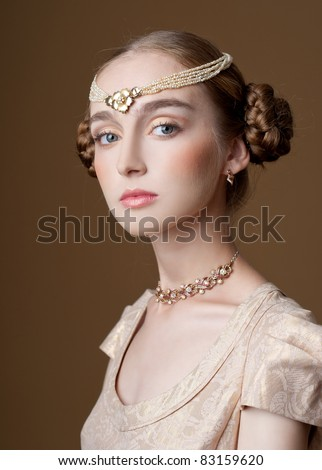 beautiful girl in the image of the princess