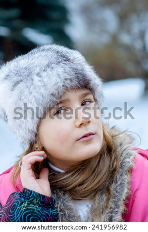 Beautiful girl in the winter