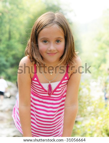 Beautiful girl out in nature