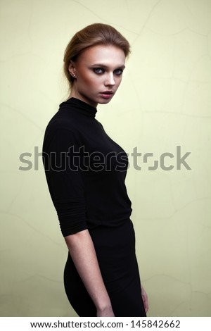 Beautiful girl portrait outdoor - stock photo
