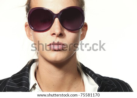 beautiful girl portrait with sunglasses