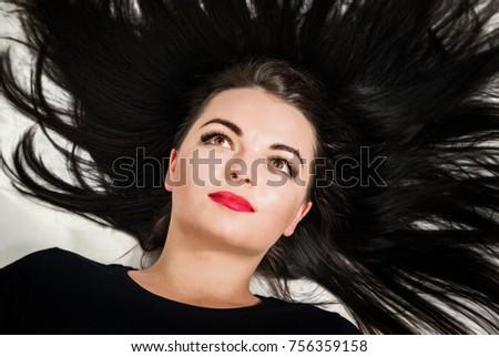 stock-photo-beautiful-girl-with-black-ha