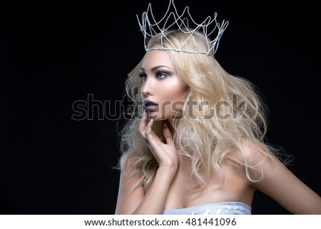 Beautiful girl with crown