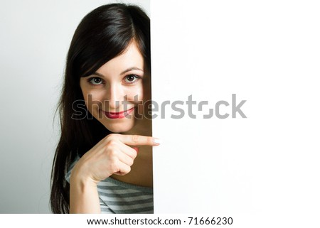 Beautiful girl with emotion on her face - stock photo