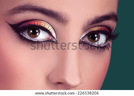 beautiful girl with make-up professionally
