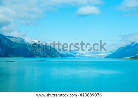 Beautiful Glacier Bay National Park in summer in Alaska
