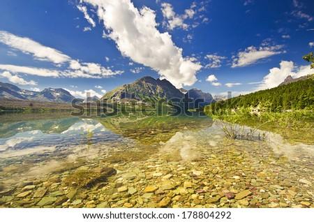 Beautiful Glacier national park - stock photo