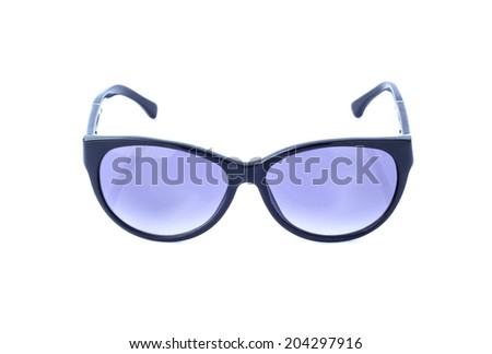 Beautiful glasses isolated on white background