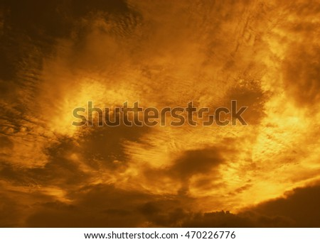 Beautiful golden sky