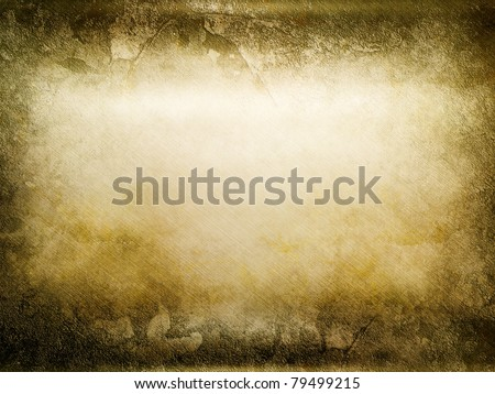 beautiful golden vintage background - stock photo