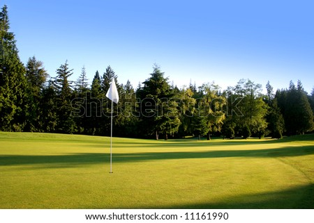 Beautiful golf course where men and woman can play golf. - stock photo