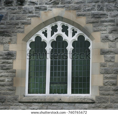 Beautiful Gothic Revival Architecture In An Historic Building Renfrew Ontario The Stone Wall And