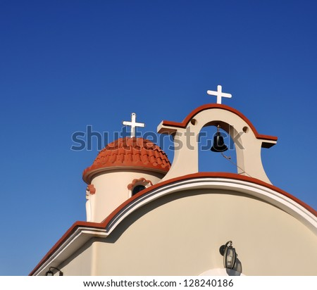 beautiful greek church in Kos, Greece - stock photo