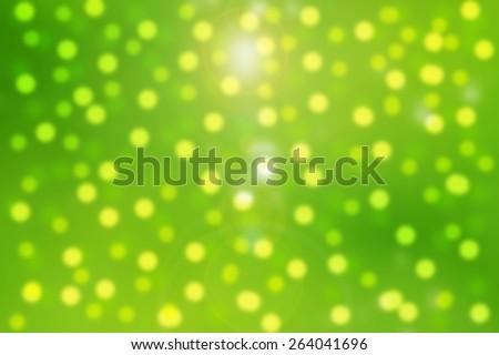 Beautiful green bokeh illustration  - stock photo