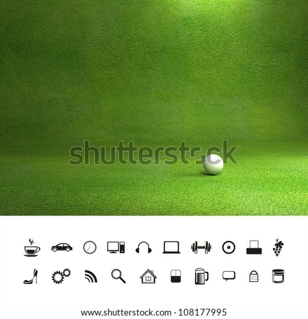 Beautiful green grass lawn texture background.