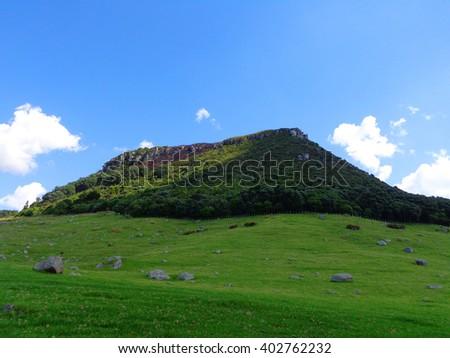 Beautiful green hill - stock photo