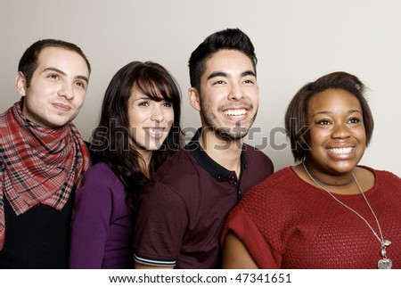 Beautiful Group of Diverse Friends