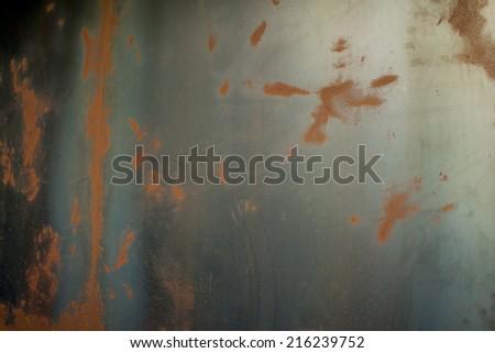 beautiful grunge steel wall. - stock photo