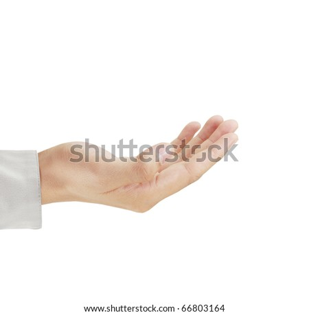 Beautiful hand on white background - stock photo