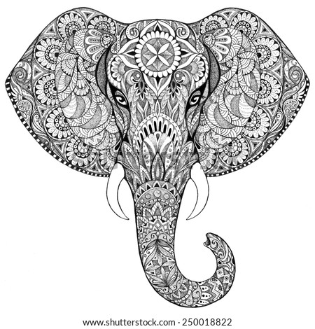 Thai Elephant Pattern Tattoo Elephant With Patterns