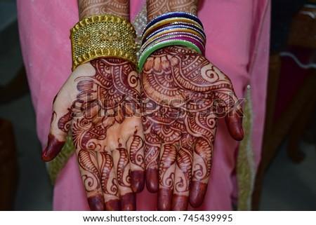 Mehndi Designs Beautiful : Beautiful hands mehndi designs stock photo download now