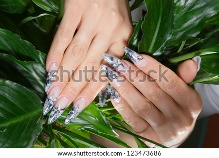 beautiful hands with perfect manicure