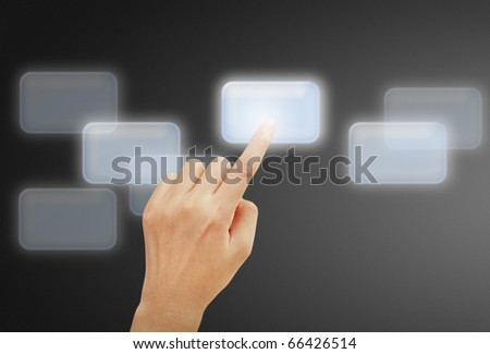 Beautiful hands with the business - stock photo