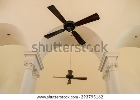 Beautiful Hanging Ceiling Fan Of Classic House