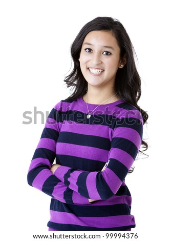 beautiful, happy, and confident young woman - stock photo